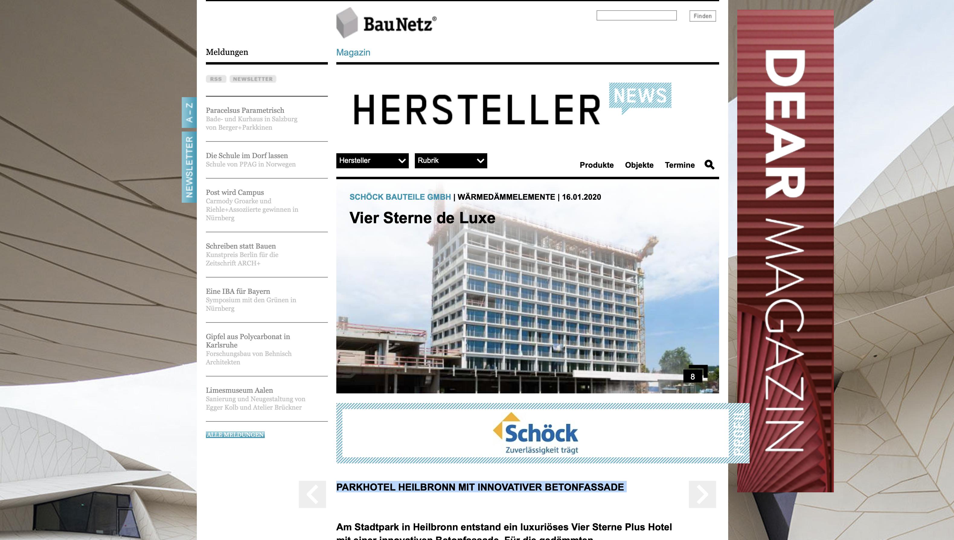 Das Parkhotel Heilbronn in den Baunetz-Hersteller News