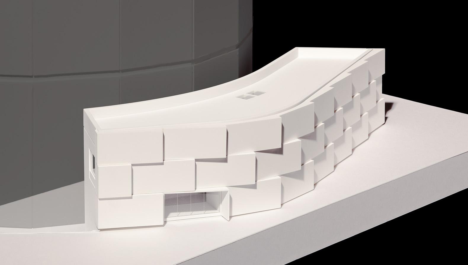 Modell des Eingangsgebäudes