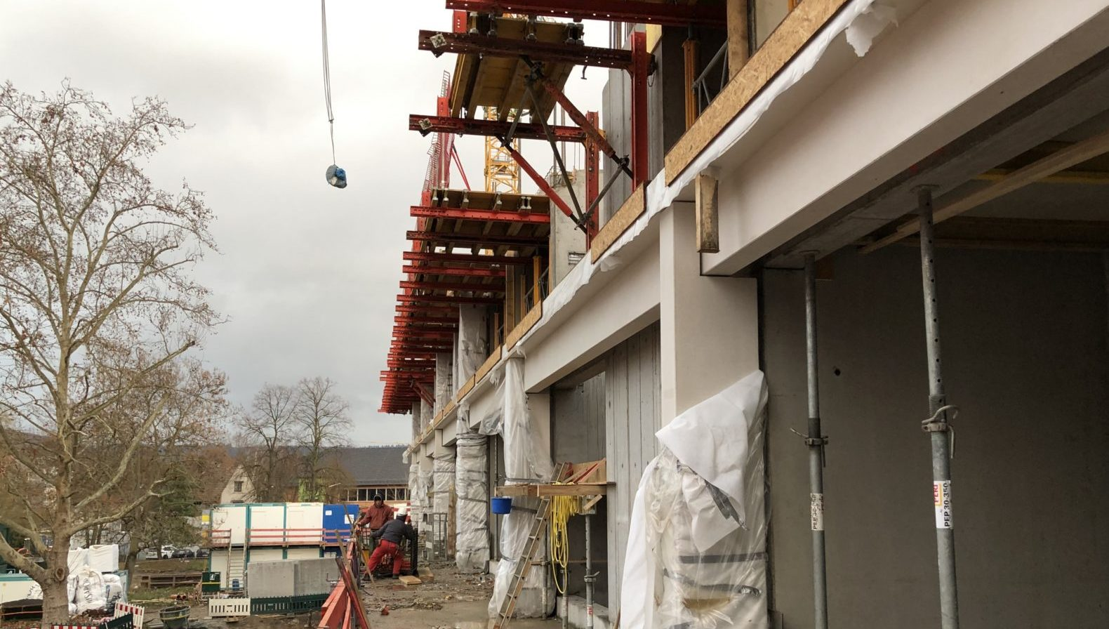 Die Baustelle des Parkhotel Heilbronn im Dezember 2018