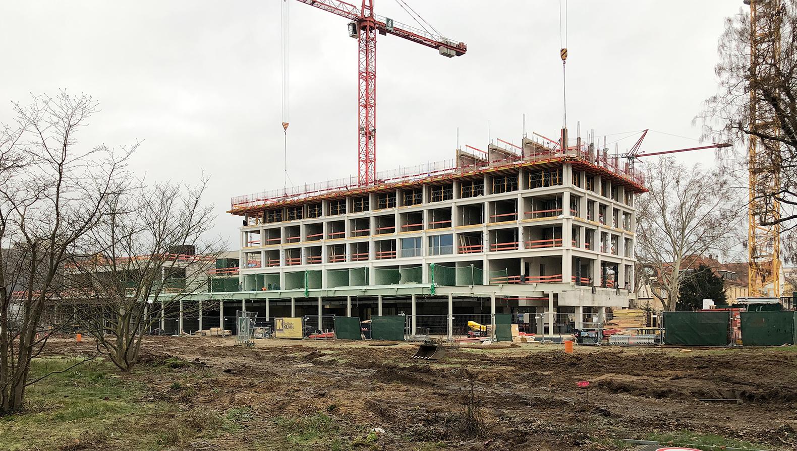 Die Baustelle im Februar 2019