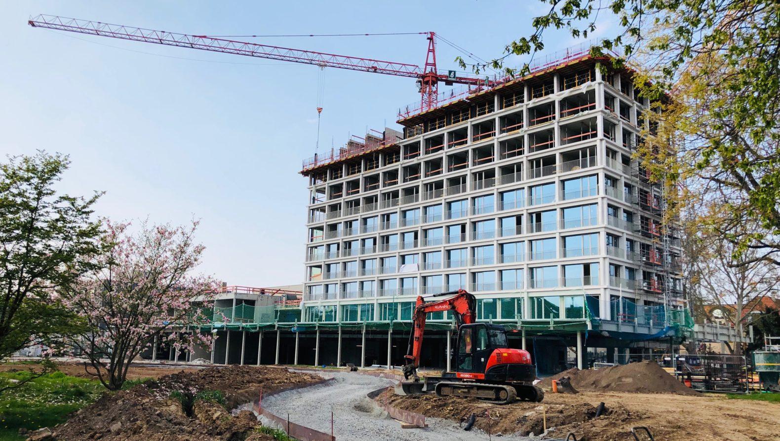 Die Baustelle im April 2019
