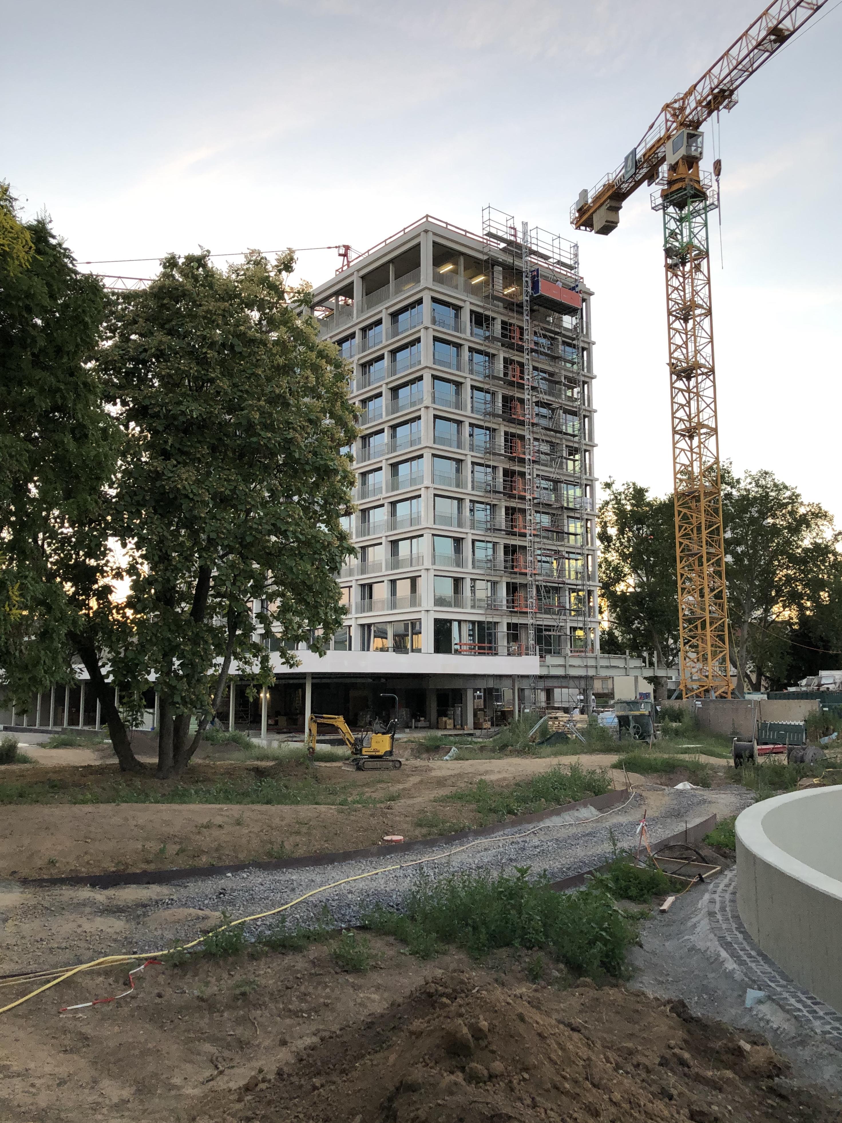 Die Baustelle im Juli 2019