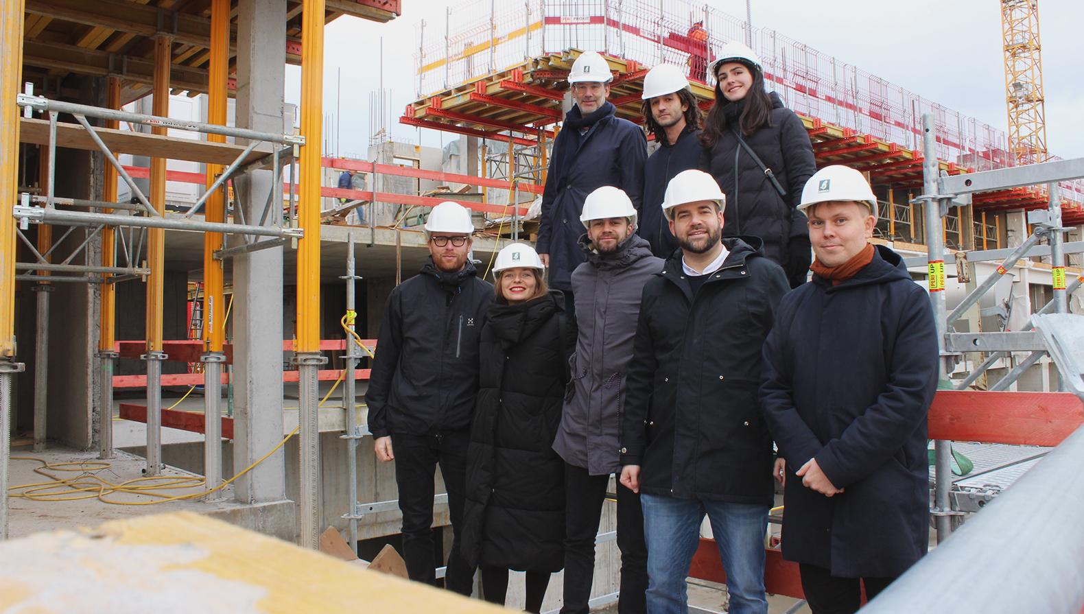 Das Team auf der Baustelle des Parkhotel Heilbronn im Dezember 2018