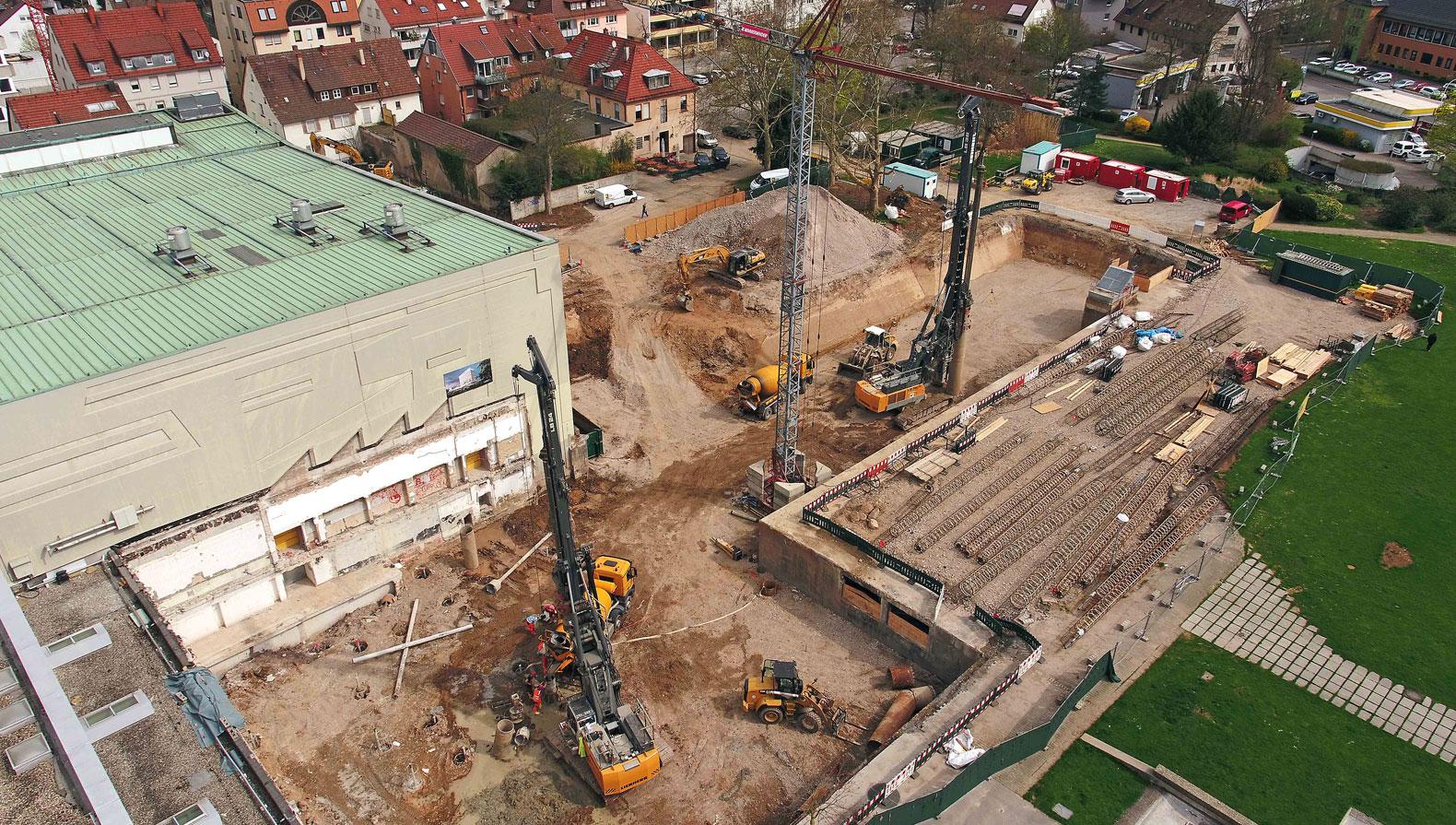 Die Baustelle im April 2018