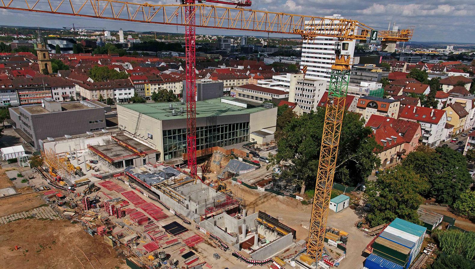 Baustelle Parkhotel Heilbronn