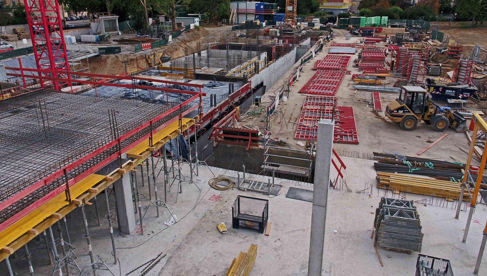 Die Baustelle Ende August