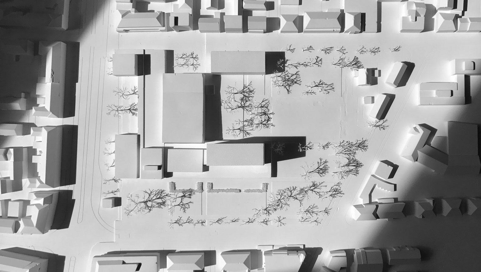 Städtebaulicher Entwurf mit Hotel und Boardinghouse