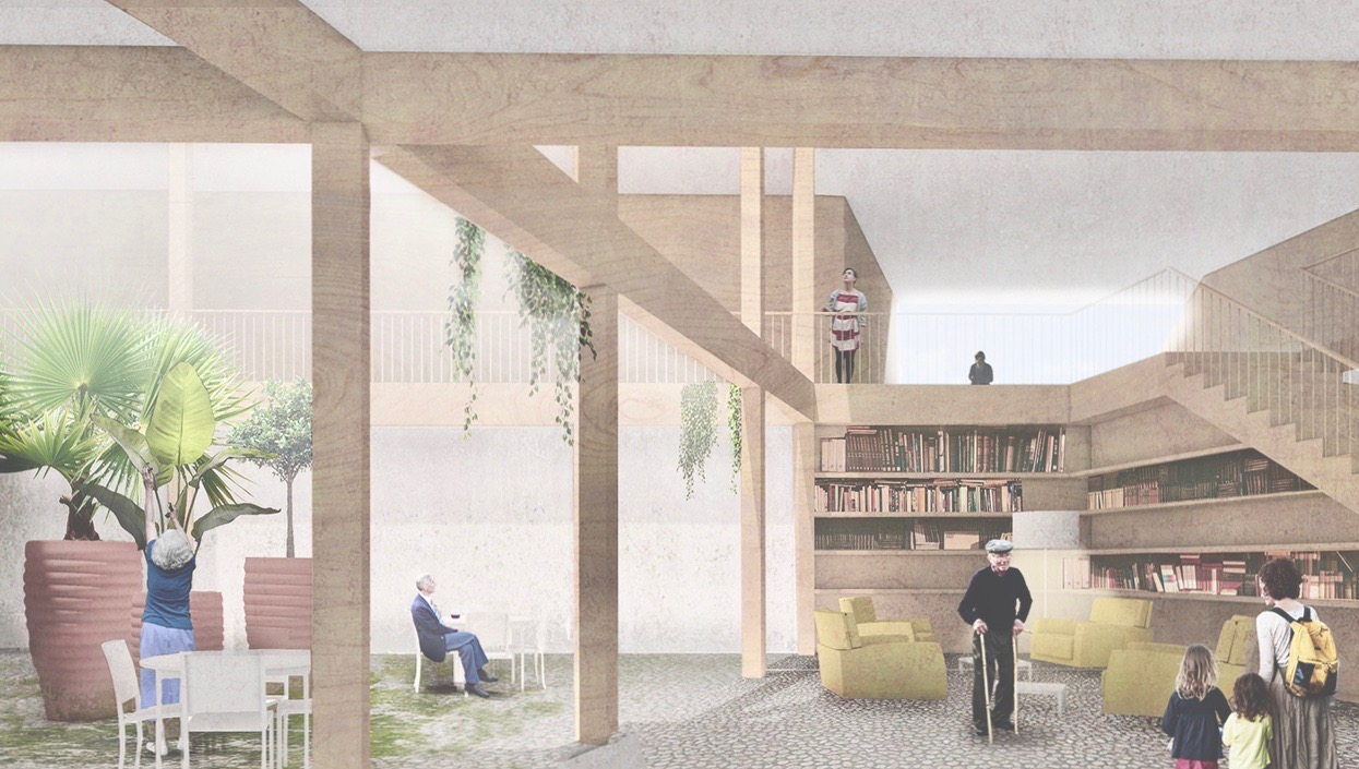 Die Innenhöfe bilden Zentren zur Begegnung und zum Wohnen